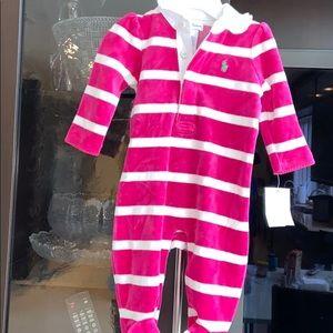 Brand new polo Ralph Lauren baby girl velvet 3 m